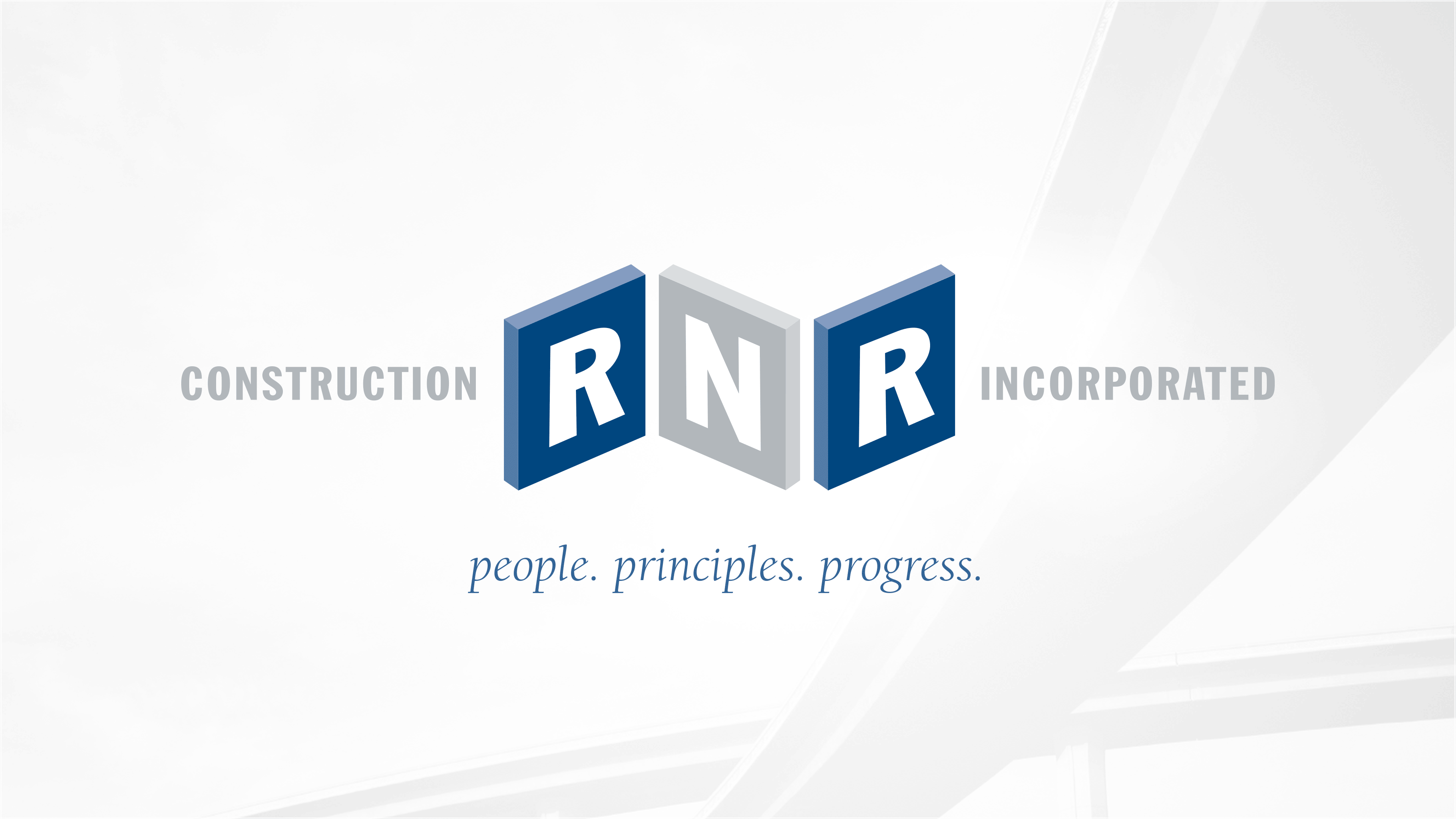 Logo of RNR Construction we designed