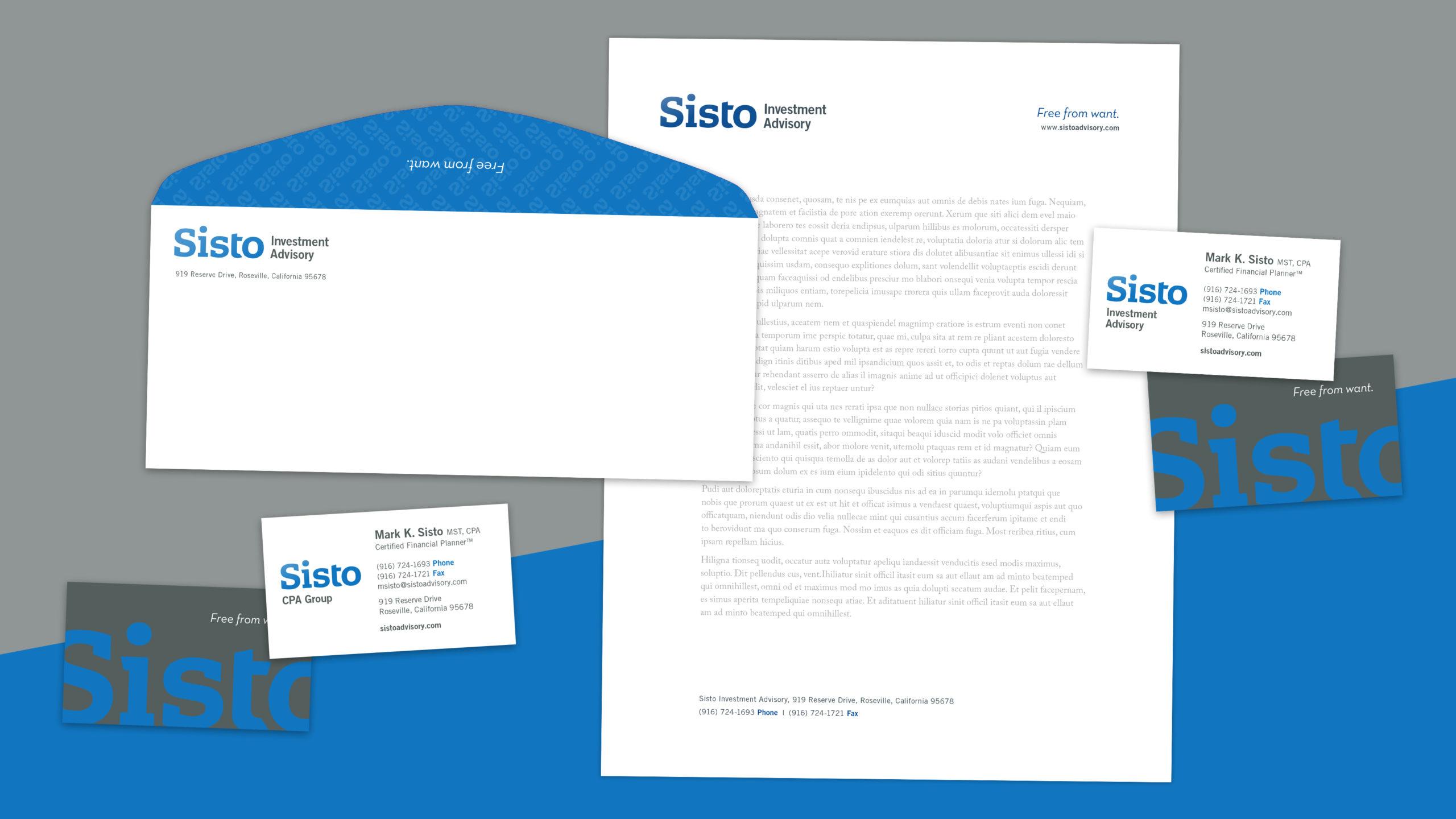 Identity System solution for Sisto Advisory